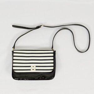 Kate Spade Black White Striped Patent randi
